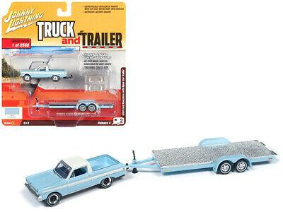 1964 Ford Ranchero with Open Car Trailer