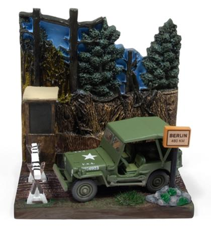 Willys MB Jeep with Resin Display - Checkpoint WWII Diorama