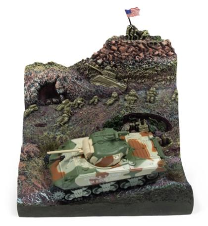 M4A3 Sherman Tank with Resin Display - Iwo Jima WWII Diorama