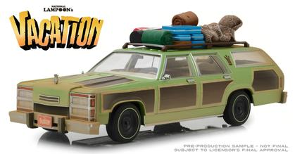 National Lampoon's Vacation  - 1979 Family Truckster Wagon Queen with Rooftop Luggage and Aunt Edna