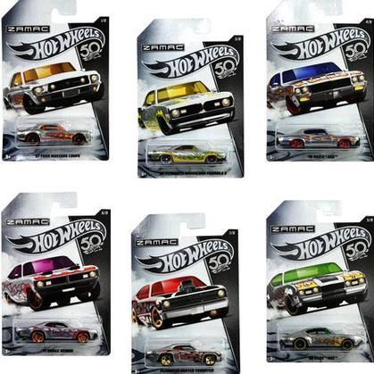 Hot Wheels 1:64 Zamac 50th Anniversary Assortment 6 Style Diecast