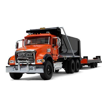 Mack Granite Dump Truck with Beavertail Trailer