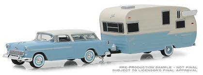 1955 Chevrolet Nomad and Shasta Airflyte with Awning Hitch and Tow Series 16
