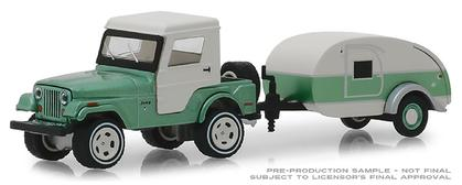 1972 Jeep CJ-5 Half-Cab and Teardrop Trailer