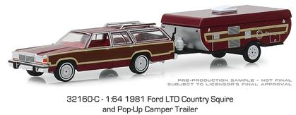 1981 Ford LTD Country Squire and Pop-Up Camper Trailer
