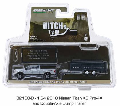 2018 Nissan Titan XD Pro-4X and Double-Axle Dump Trailer Hitch and Tow Series 16