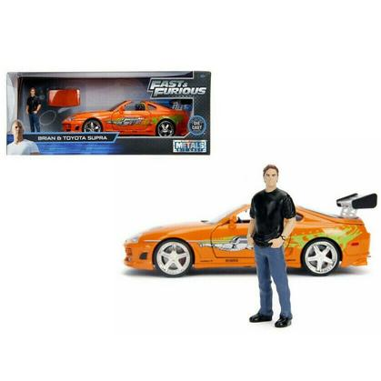 Toyota Supra with Brian Paul Walker Figure Fast and Furious