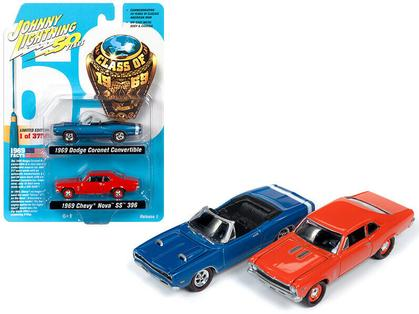 Dodge Coronet 1969 & Chevrolet Nova SS 1969 Set