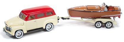 1950 Chevrolet Suburban with Vintage Speedster Wood Boat
