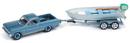 1965 Ford Ranchero with Vintage Fishing Boat