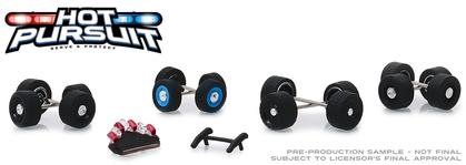 Hot Pursuit Wheel & Tire Pack - 16 Wheels, 16 Tires, 8 Axles, Light Bars and Push Bars