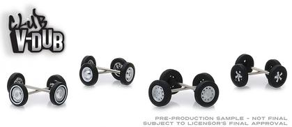 Club Vee-Dub Wheel & Tire Pack - 16 Wheels, 16 Tires, and 8 Axles