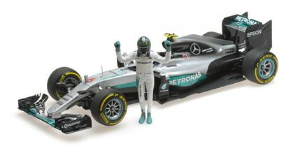 Mercedes AMG F1 Nico Rosberg World Champion 2016 W/ Figurine