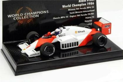 ALAIN PROST 1986 WORLD CHAMPION McLaren TAG MP4/2C