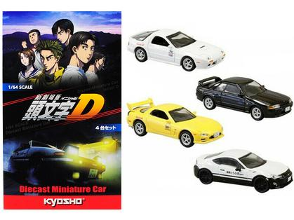 SET OF 4 CARS FROM INITIAL D (2016) MOVIE