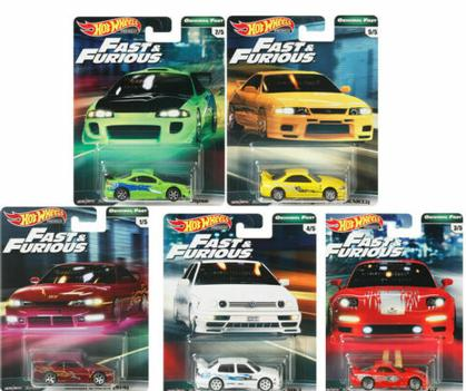 2019 Hot Wheels Fast & Furious Original Fast Premium Complete Set of 5
