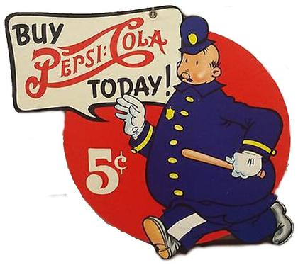 Pepsi Cops Die Cut Sign 15