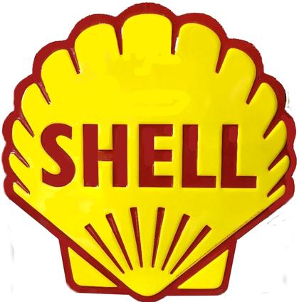Shell Pecten Die Cut Sign 12