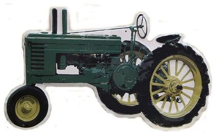 Green Tractor John Deere Die Cut Sign