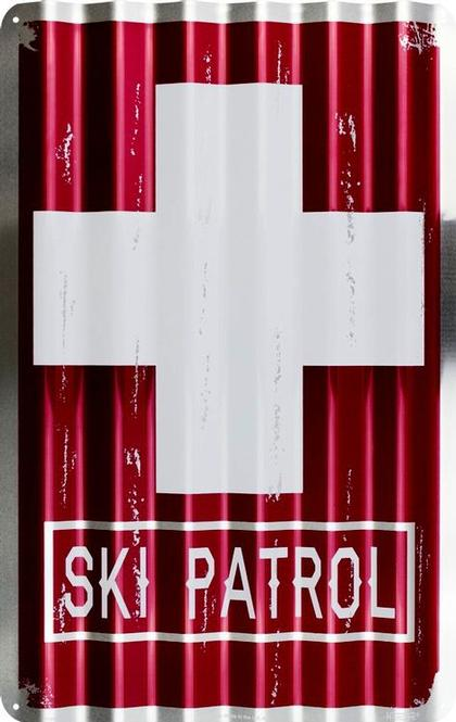 Ski Patrol Corrugated Large Sign