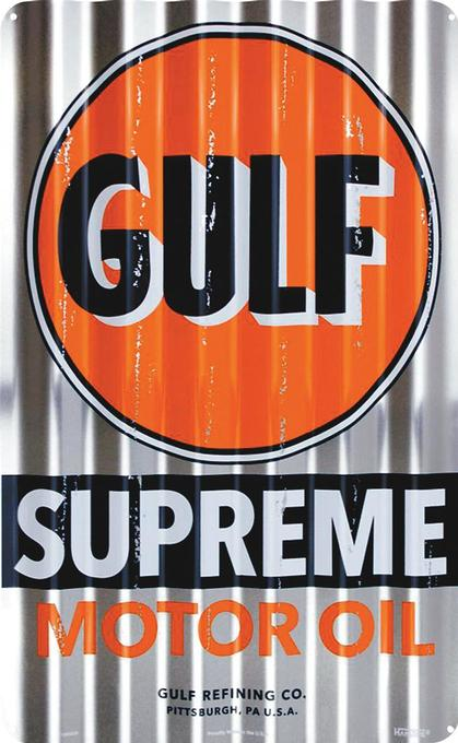 Gulf Supreme Corrugated Large Sign