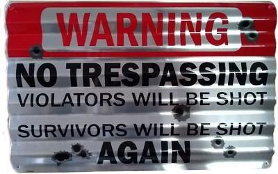 No Trespassing Corrugated Large Sign