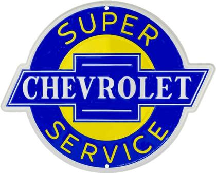 Chevrolet Super Service Round Sign 24