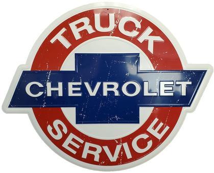 Chevrolet Truck Service Round Sign 24