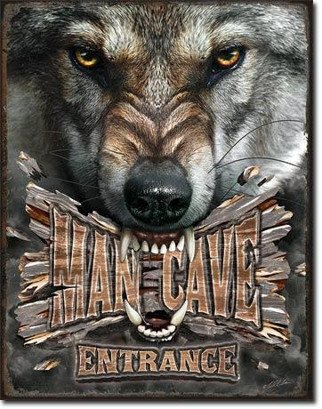 Man Cave Wolf