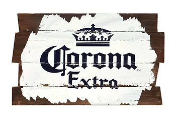 Corona sign painted plaque 16