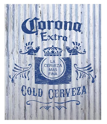 Corona sign Corrugated 12
