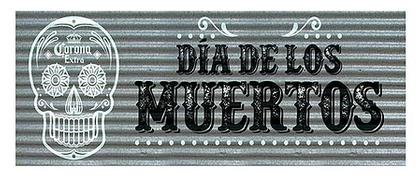 Corona Dia de los Muertos 24x8 Corrugatedrrugated 12x15