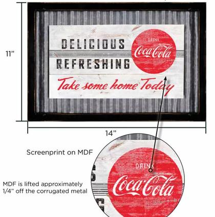 Coca-Cola sign 11x14