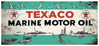 Texaco Marine Motor Oil 52x22