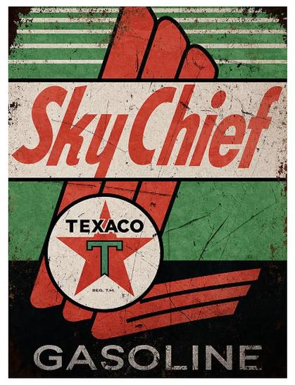 Enseigne Texaco Sky Chief 30x40