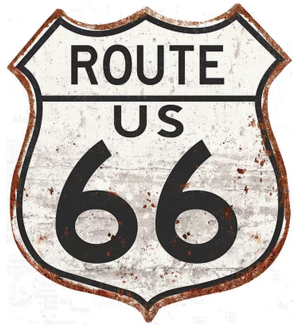 Route 66 sign 32x36