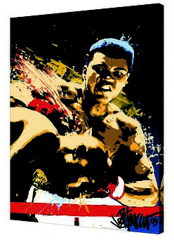 Canvas 24x36 Fighting Boxer