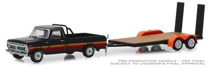1977 Ford F-100 and Free Wheeling Stripes & Flatbed Trailer  Hitch and Tow Series 17