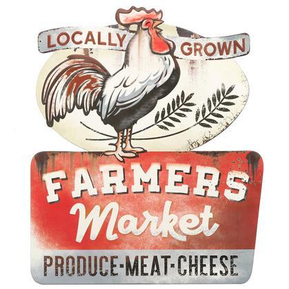 Farmers Market Rustic Embossed
