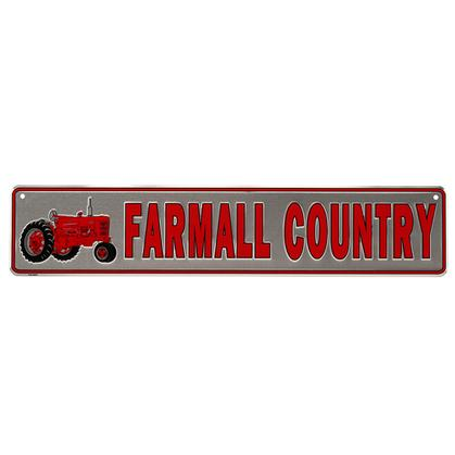 FARMALL COUNTRY TIN STREET SIGN 24x5