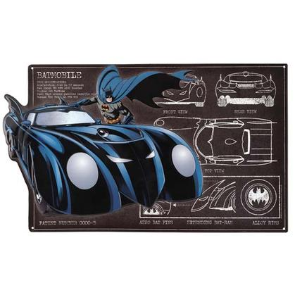 BATMAN SCHEMATIC EMBOSSED TIN SIGN 22x13