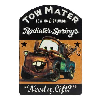 TOW MATER EMBOSSED TIN SIGN 9x13