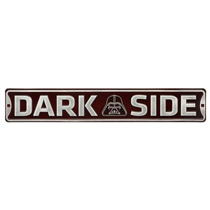 DARK SIDE Star wars EMBOSSED TIN STREET SIGN 24x4