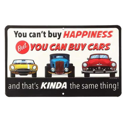 YOU CAN BUY CARS TIN SIGN 10x6