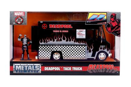 Tacos El Guero Food Truck in Black with Deadpool Figure