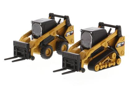 Caterpillar 272D2 Skid Steer Loader and Caterpillar 297D2 Compact Track Loader with Accessories