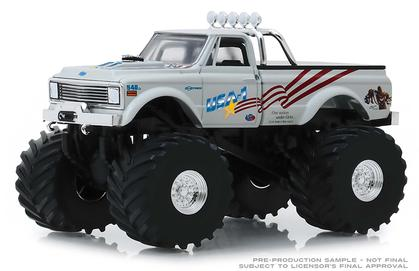 Chevrolet K-10 1970 Monster Truck with 66-Inch Tires USA-1 Kings of Crunch Series