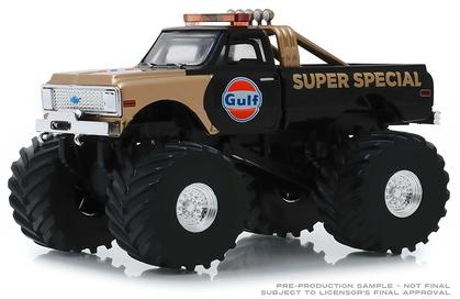 Chevrolet K-10 1971 Monster Truck with 66-Inch Tires Gulf Oil Super Special Kings of Crunch Series