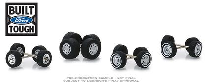 Ford Trucks Wheel & Tire Pack - 16 Wheels, 16 Tires, and 8 Axles, Wheel and Tires Packs Series 1