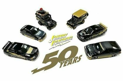JOHNNY LIGHTNING 50th ANNIVERSARY IMPORT CARS ASSORTMENT